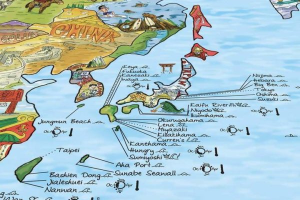 surf trip map