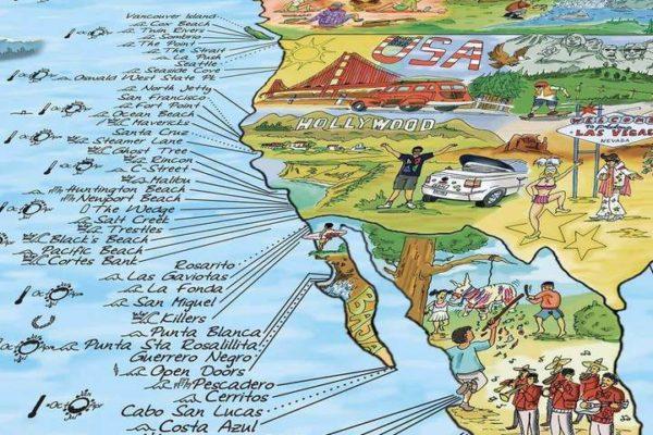 carte spot de surf