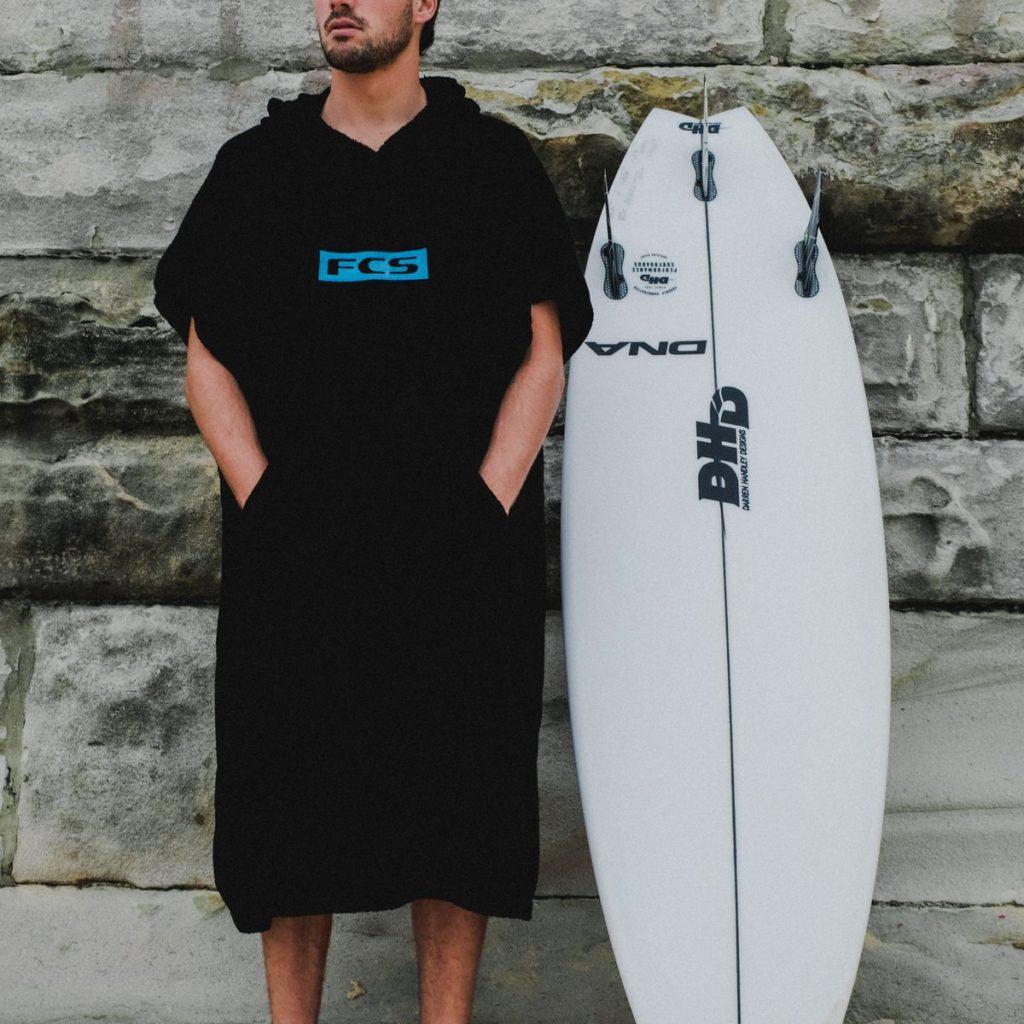 poncho pour le surf
