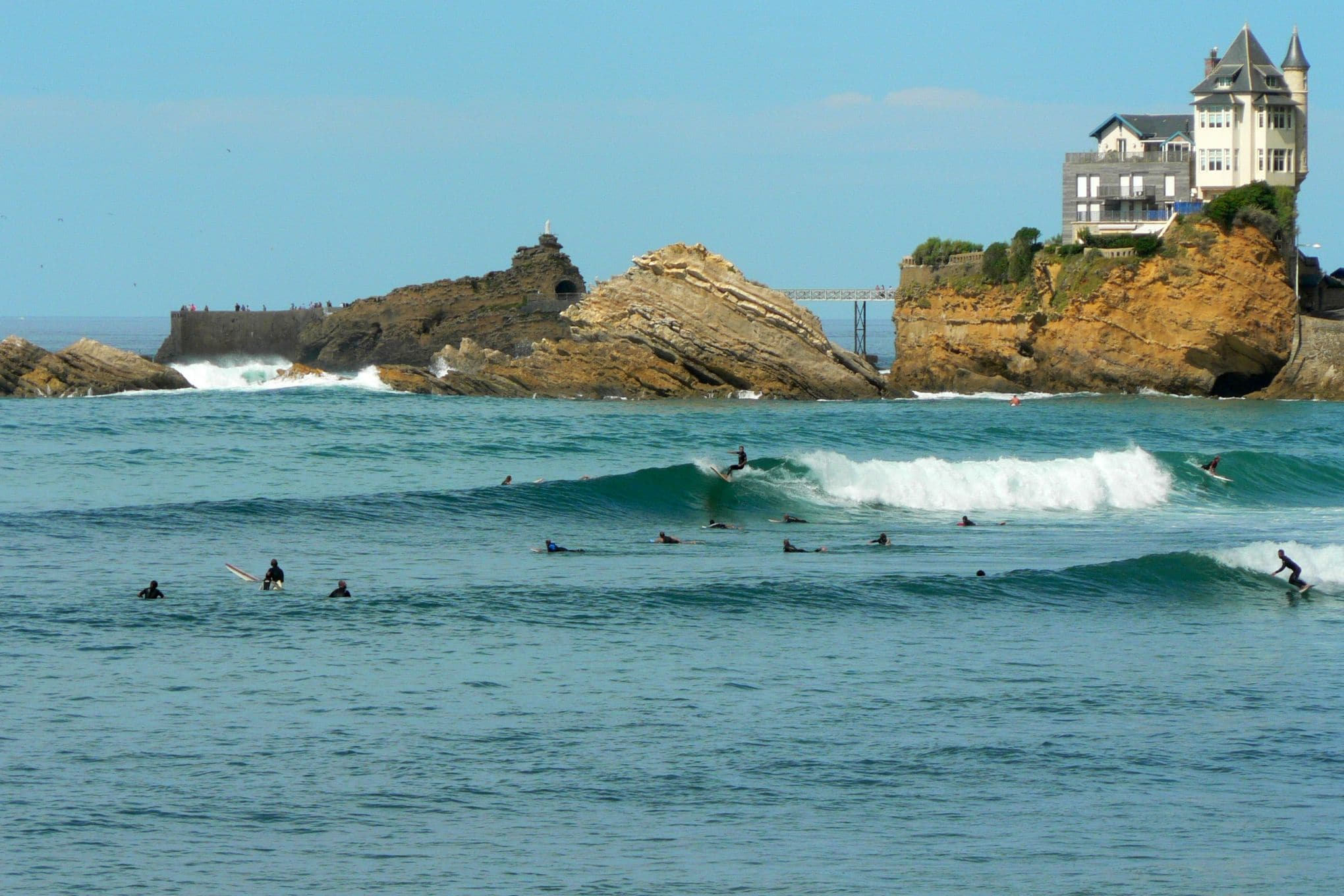 Les spots de surf et webcams à Biarritz